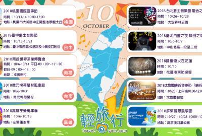 涼爽的秋天真的來啦:10月全台各地推薦活動