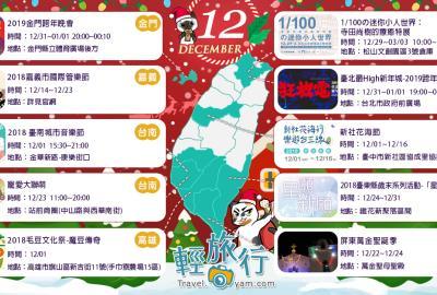 玩得很充實!聖誕跨年玩不完~:12月全台各地推薦活動