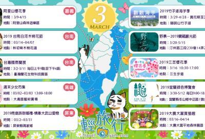 春暖花開,大地換上繽紛衣賞:3月全台各地推薦活動