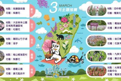 3月主題推薦地圖:百花齊放賞花趣