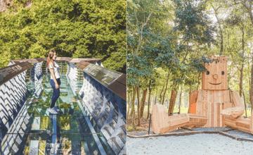 跟著超夯韓劇《魷魚遊戲》六大關卡出遊!挑戰刺激絕美的玻璃透明吊橋、手作椪糖DIY、和巨大木頭人照相