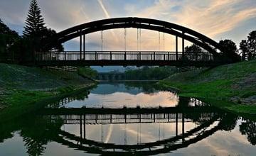 新竹關西|東安古橋:遠離塵囂漫遊古橋,欣賞落日餘暉的熱門景點