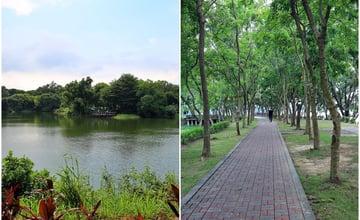 台南│小南海風景區 吊橋、湖光水色、林木蔭鬱,慢走漫走