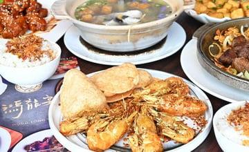 台中│鴻龍宴,超浮誇活蝦料理在這裡,整艘大船開進店裡,好吃又好拍~