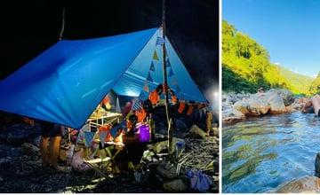 宜蘭大同|芃芃野溪溫泉:最親民的天然野溪溫泉,視野遼闊體驗溪畔野營